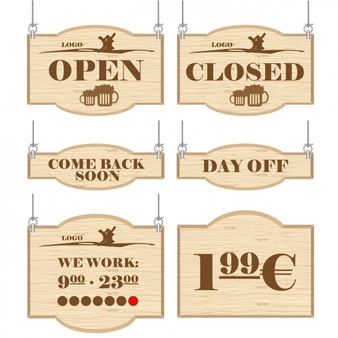 closed easter sign template signs for commercial establishments 1268
