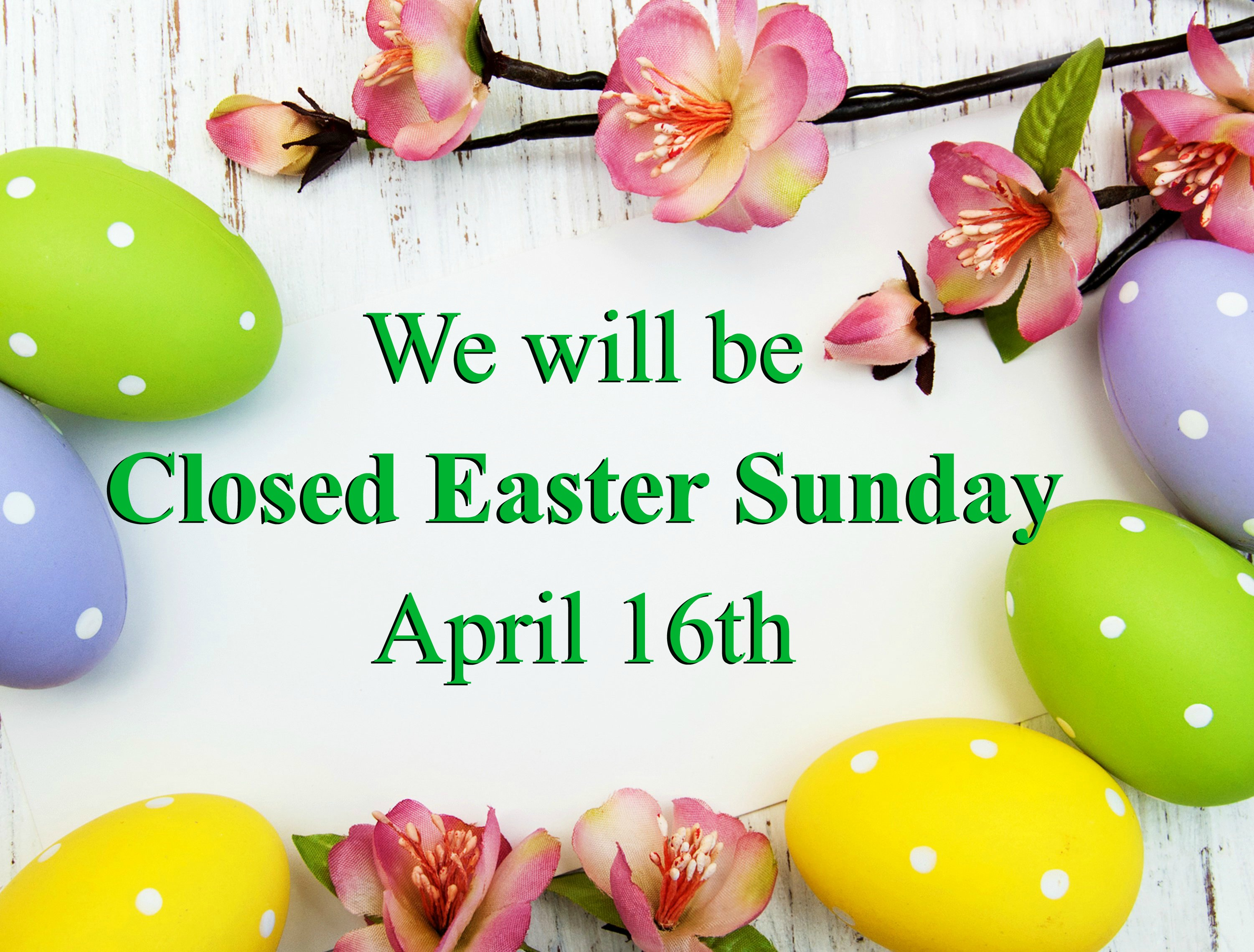 closed easter sunday sign the easter bunny org