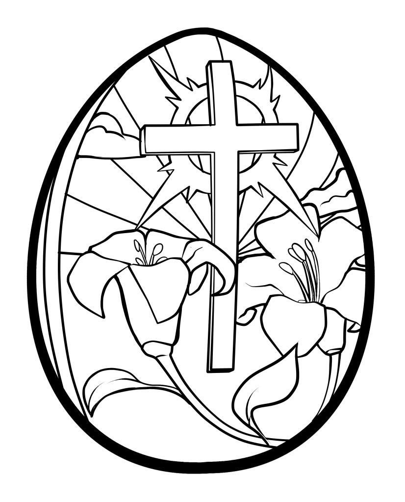Easter egg coloring pages for kids and adults | KiddyCharts | 1023x826