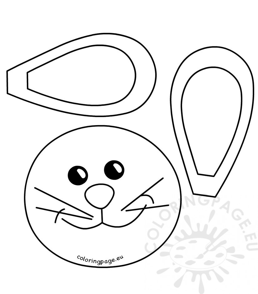 12 easter bunny coloring pages printable - Print Color Craft   940x826