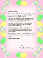 image about Letter From the Easter Bunny Printable identify Easter Bunny Letter Template Absolutely free - The Easter Bunny.Org