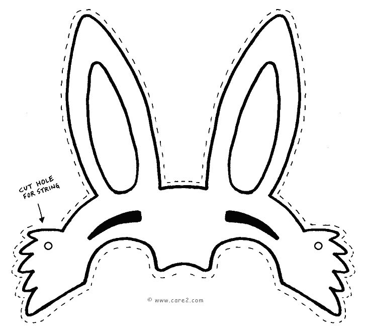 easter bunny mask printable easter 20bunny 20face 20template 20 22