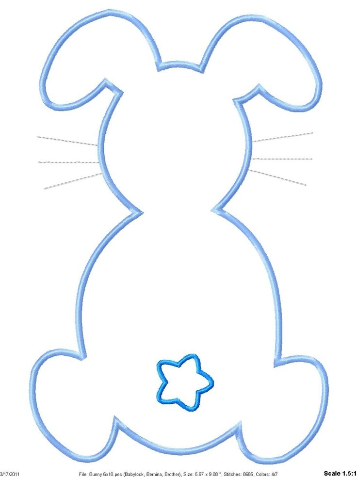 Easter Bunny Outline Template Bigreb8i8