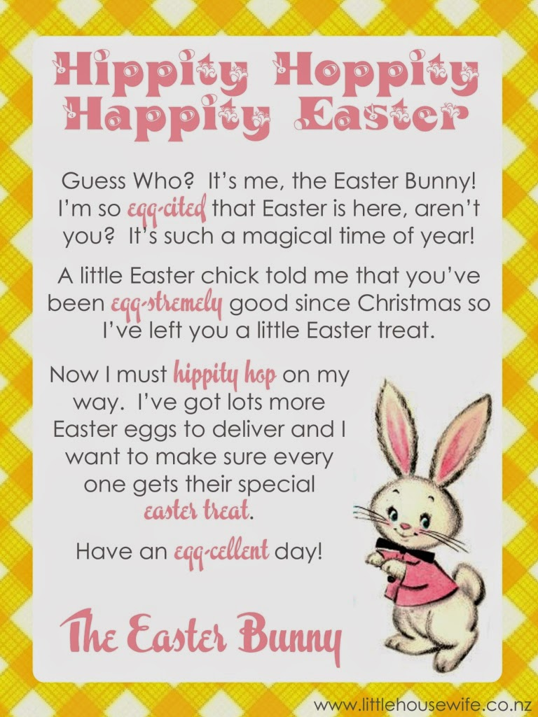 Easter Bunny Text Message Little Housewife Letter From The Easter Bunny Yellow With Text For Blog The Easter Bunny Org