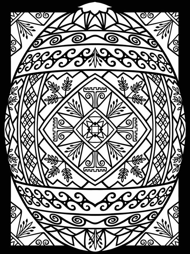 5 free printable Easter coloring pages for adults that will ... | 870x650