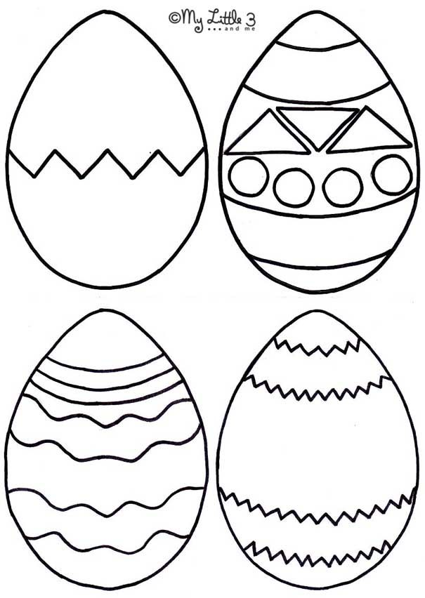 Free Printable Easter Egg Shapes Pattern Template 56839