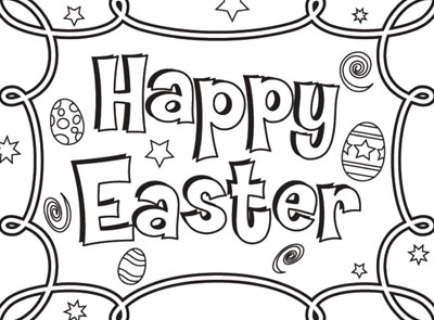 Happy Easter Coloring Page • FREE Printable eBook in 2020   Easter ...   295x400