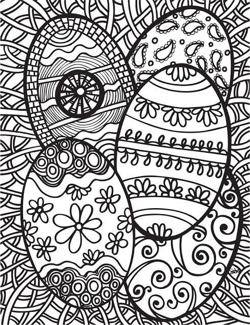 Easter Parade Coloring Page | 640x492