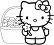 Hello Kitty Easter Coloring Pages Printable