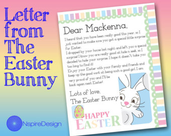 image regarding Letter From Easter Bunny Printable called letter towards easter bunny printable a letter versus the easter